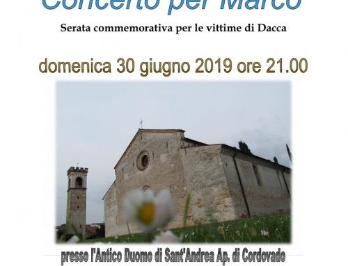 """""""Concerto per Marco"""" – Serata commemorativa per le vittime di Dacca"""