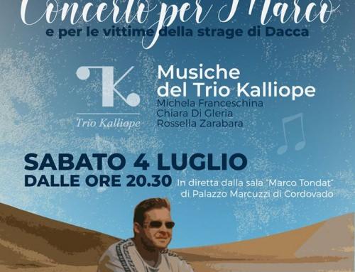 """""""Concerto per Marco"""" – Sabato 4 luglio alle ore 20.30"""
