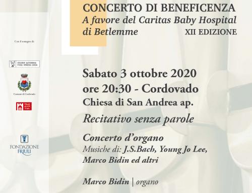 XII edizione del Concerto di beneficenza per il Caritas Baby Hospital di Betlemme